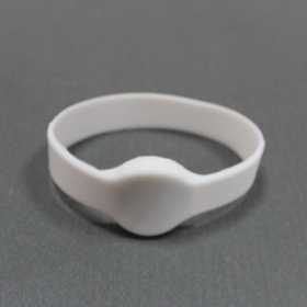 Yellow-Silicone RFID Wristband Tag with Mifare S50- Ф50/55/60/65(MM)
