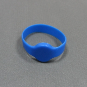 Blue-Silicone RFID Wristband Tag with Mifare S50- Ф50/55/60/65(MM)
