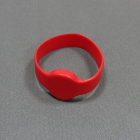 Red-Silicone RFID Wristband Tag Proximity TK4100-Ф50/55/60/65(MM)-10 per pack