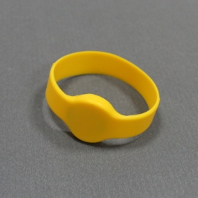 Yellow-Silicone RFID Wristband Tag with I.CODE SLI- Ф50/55/60/65(MM)